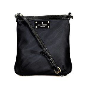 Kate Spade Black Nylon Victoria Cross Body Bag